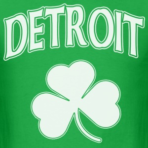 Detroit Irish Shamrock T-Shirts - Men's T-Shirt
