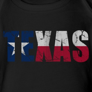 Texas Flag of Vintage Baby Bodysuits - Short Sleeve Baby Bodysuit