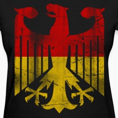 German Flag Eagle Vintage Women's T-Shirts