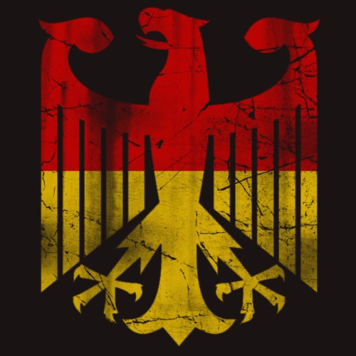 German Flag Eagle Vintage