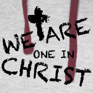 We Are One In Christ Hoodies - Colorblock Hoodie