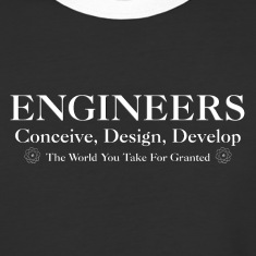 Engineers Develop Mens Baseball T-Shirt