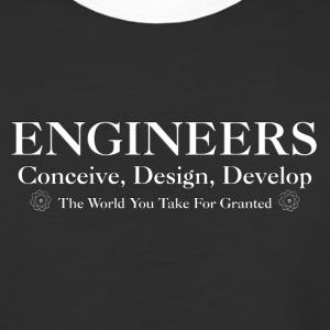 Engineers Develop Mens Baseball T-Shirt - Baseball T-Shirt