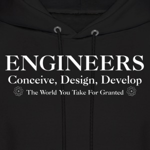 Engineers Develop Mens Hooded Sweatshirt - Men's Hoodie