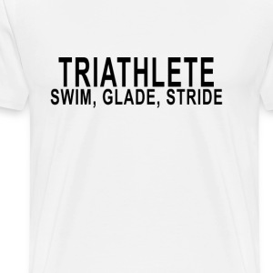 triathlete__swim_glide_stride_ - Men's Premium T-Shirt