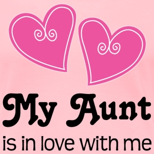 Aunt Loves Me Heart Cute Women's T-Shirts - Women's Premium T-Shirt