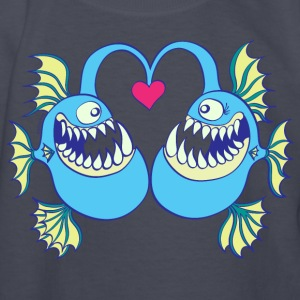 Abyssal Fishes in Love Kids' Shirts - Kids' Long Sleeve T-Shirt
