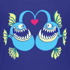 Abyssal Fishes in Love Kids' Shirts