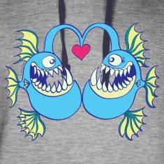 Abyssal Fishes in Love Hoodies