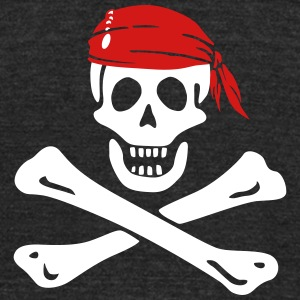 jolly roger pirate T-Shirts - Unisex Tri-Blend T-Shirt by American Apparel