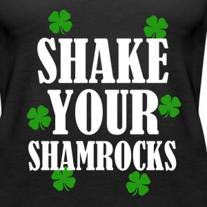 Shake Your Shamrocks funny St. Patricks day shirt - Women's Premium Tank Top