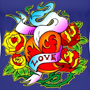 Love & Roses Tattoo - Women's Premium T-Shirt