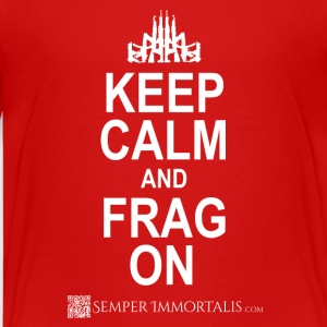 Kid's Keep Calm and FRAG ON shirt - Kids' Premium T-Shirt