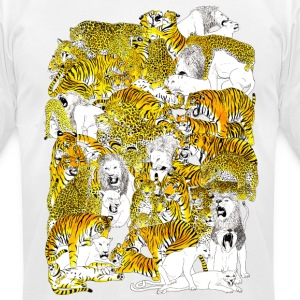 wild cat orgy - Men's T-Shirt by American Apparel