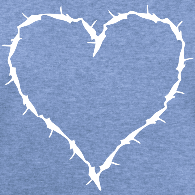 heather blue white barbwire heart