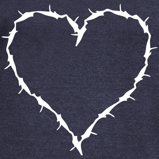 slouch shirt barbwire heart