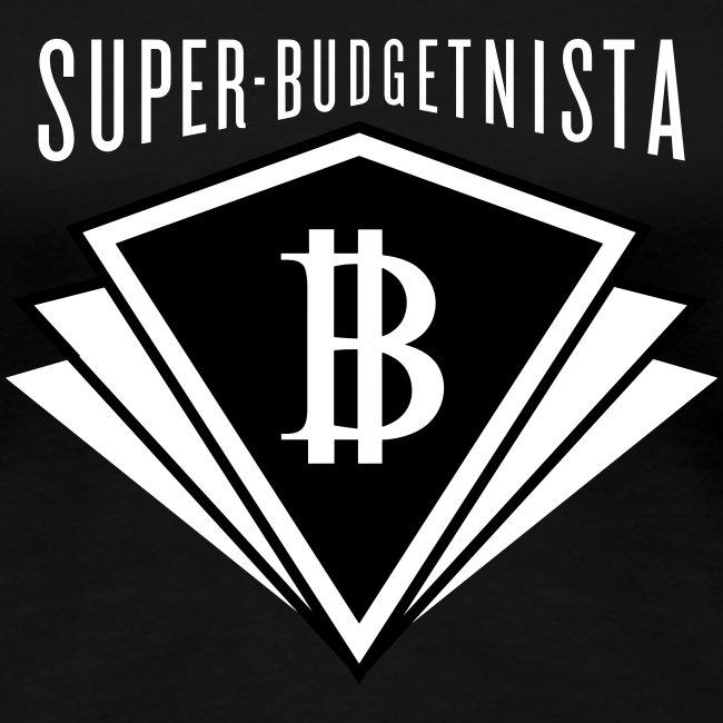 Super Budgetnista Tee, White/Black