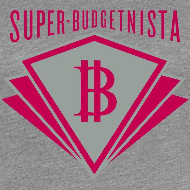 Super Budgetnista Tee, Magenta/Gray