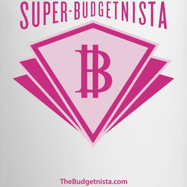 Super Budgetnista Mug,  Magenta/White