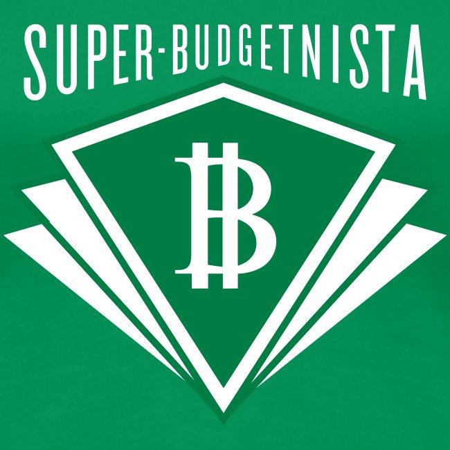 Super Budgetnista Tee,  White/Green