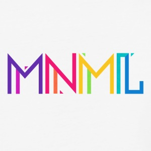 Minimal Type (Colorful) Typography - Design T-Shirts - Baseball T-Shirt