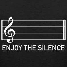 enjoy the silence music clef score musician Tank Tops