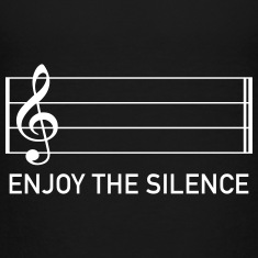 enjoy the silence music clef score musician Baby & Toddler Shirts