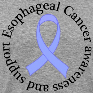 Esophageal Cancer Support Ribbon T-Shirts - Men's Premium T-Shirt