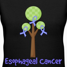Esophageal Cancer Ribbon Tree Women's T-Shirts