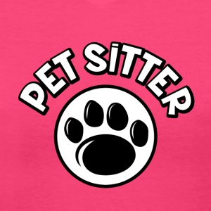 Pet Sitter V-Neck Tee (Women) - Women's V-Neck T-Shirt