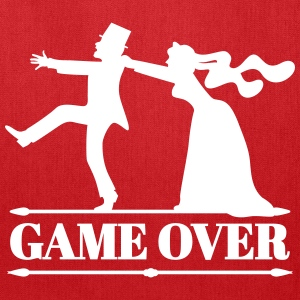 game over bride groom bachelor bachelorette party  Bags & backpacks - Tote Bag