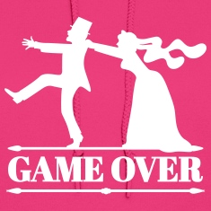 game over bride groom bachelor bachelorette party  Hoodies