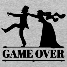 game over bride groom bachelor bachelorette party  T-Shirts