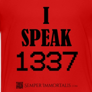 Kid's I Speak LEET shirt - Kids' Premium T-Shirt