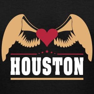 Houston Women's T-Shirts - Women's V-Neck T-Shirt
