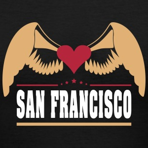 San Francisco Women's T-Shirts - Women's V-Neck T-Shirt