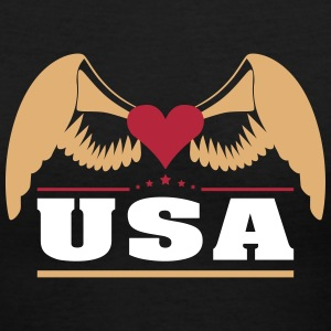 USA Women's T-Shirts - Women's V-Neck T-Shirt