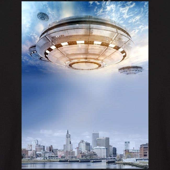 UFO Hoovering Earth