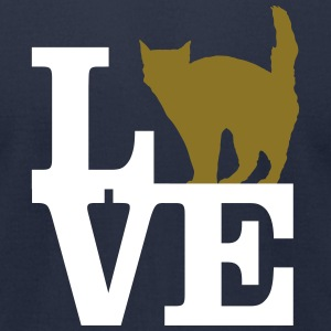 Love Cat T-Shirts - Men's T-Shirt by American Apparel
