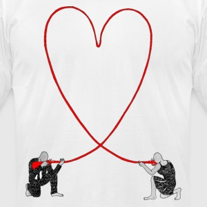 Love hurts - Men's T-Shirt by American Apparel