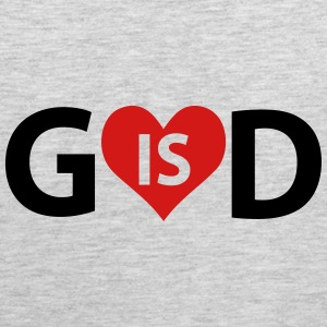 God is Love Tank Tops - Men's Premium Tank
