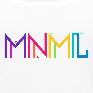 Minimal Type (Colorful) Typography - Design Tanks - Women's Premium Tank Top