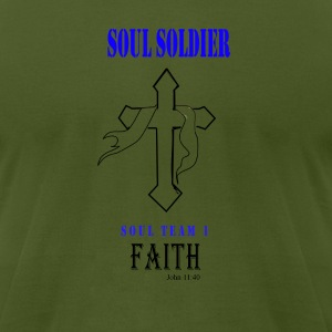 Soul Team 1 Faith - Men's T-Shirt by American Apparel
