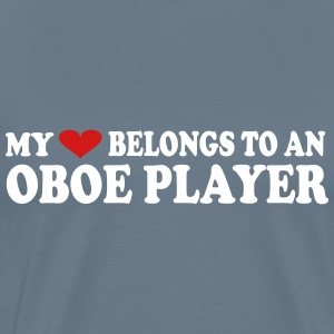 My Heart Belongs To An Oboe Player - Men's Premium T-Shirt