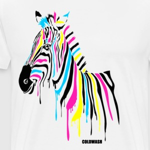 RAINBOW ZEBRA - Men's Premium T-Shirt