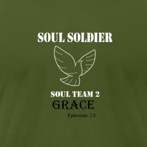 Soul Soldier 2 white T-Shirts - Men's T-Shirt by American Apparel