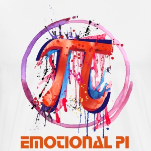 Emotional Pi, Drip Art - Men's Premium T-Shirt