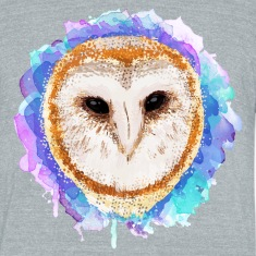 Colored barn owl