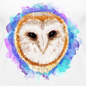 Colored barn owl - Women's Premium Tank Top
