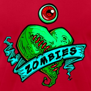 h3 eye heart zombies green - Men's T-Shirt by American Apparel